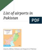 List of airports in Pakistan - Wikipedia