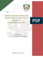 Informe del programa -Habilidades Sociales