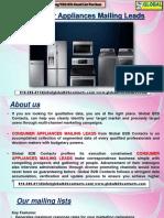 Consumer Appliances MailingLeads