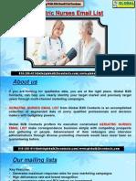 Geriatric Nurses EmailList