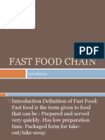 Fast Food Chain Ppt