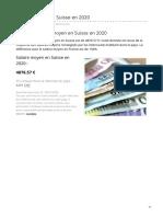 combien-coute.net-Salaire moyen en Suisse en 2020