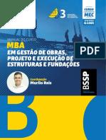 MBA EM GESTÃO DE OBRAS, PROJETO E EXECUÇÃO DE ESTRUTURAS E FUNDAÇÕES
