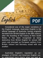 AUSSIE ENGLISH, BRIEF INFORMATION