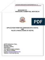 HOSTEL ADMISSION FORM 2017