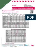Tours-Vierzon-bourges (Nevers) Du 09-01-2020