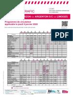 Orleans-Vierzon-Argenton S_c (Limoges) Du 09-01-2020