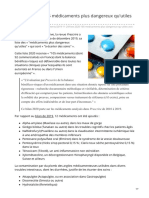 psychomedia.qc.ca-Listenbsp2020 de 105 médicaments plus dangereux quutiles selon Prescrire