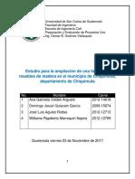 Preparacion y Evaluación de proyectos (madera)