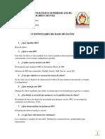CUESTIONARIO DE BASE DE DATOS