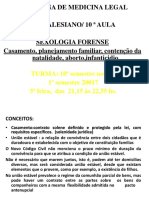 DISCIPLINA DE MEDICINA LEGAL UNISALESIANO_ 10 ª AULA. SEXOLOGIA FORENSE Casamento, planejamento familiar, contenção da natalidade, aborto,infanticidio