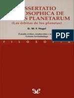 Hegel, Georg Wilhelm Friedrich - Las orbitas de los planetas