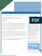 Normas APA 2018 – 6ta edición