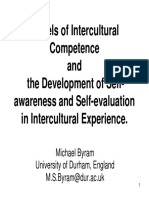 08 Michael Byram - Models of Intercultural Competence and the Development of Self-awareness and Self-evaluation in Intercultural Experience.pdf