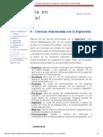 6.- Ciencias relacionadas con la Ergonomia - Ergonomia en la vida del trabajo