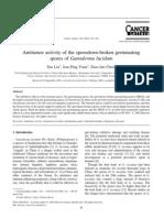 Antitumor Activity of the Sporoderm-broken Germinating Spores of Ganoderma Lucidum