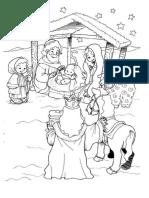Cena da Natividade 9 para colorir