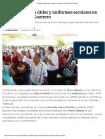 19-09-2019 Entrega Astudillo útiles y uniformes escolares en Tierra Caliente, Guerrero.