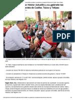 20-09-2019 Recorre el gobernador Héctor Astudillo y su gabinete los municipios de Buenavista de Cuéllar, Taxco y Tetipac.