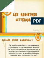 registres littéraires