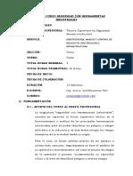 SILABO SEGURIDAD CON HERRAMIENTAS INDUSTRIALES