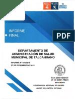 Informe Final 693-19 Das Municipalidad de Talcahuano Auditoría Al Macroproceso de Adquisiciones y Abastecimiento - Diciembre