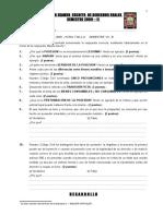 EXAMEN  DERECHO LABORAL COLECTIVO UANCV - VIII SEMESTRE