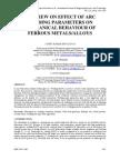 Effect of Arc Welding Parameters