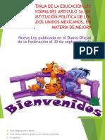 LEY REGLAMENTARIA DEL ARTÍCULO 3o