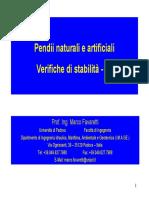 Favaretti M. - Uni PD pendii verifiche di stabilità