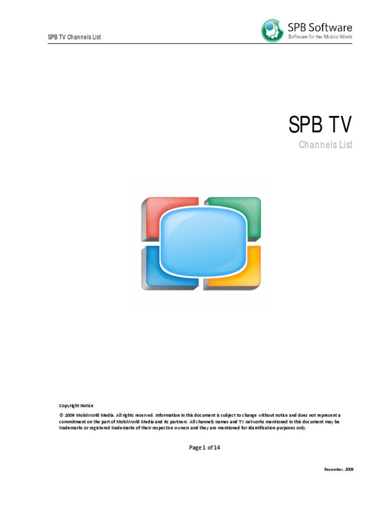 Spb Channels List | News | Television