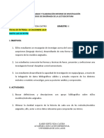 PAUTA DE TRABAJO INFORME DE INVESTIGACIÓN MÉTODOS