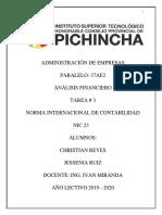 Tarea 03 NORMA INTERNACIONAL DE CONTABILIDAD NIC 23