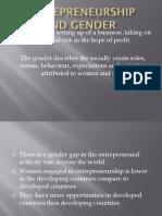 Entrepreneurship and gender