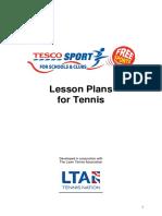 lesson  20plans lta-2006 revised format tennis copy