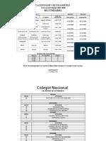 CALENDARIO SECUNDARIA 2019-2020