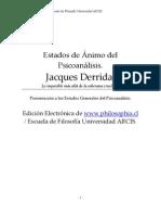Derrida, Jacques - Estados del psicoanalisis