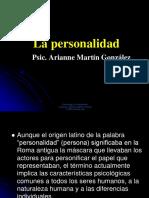 PPt. La personalidad
