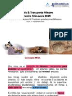 Conceptos  Procesos Productivos Mineros