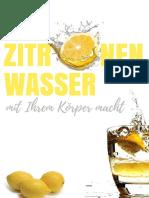 Was ZitronenWasser mit Ihrem Koerper Macht