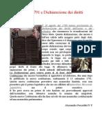 Scheda; Costituzione francese del 1791 e Dichiarazione dei diritti
