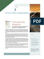 Boletín Estrategia Internacional de Reducción de Desastres