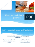 Food L2  Safety 101_Cleaning, Sanitation, Equipement Use and Care