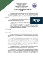 Annual Accomplishment Report 2018 - 2
