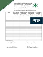 8.2.1.8 Bukti pelaksanaan dan tindak lanjut evaluasi kesesuaian peresepan dengan formularium