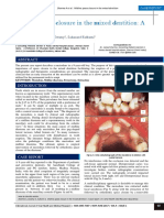 Midline space closure in the mixed dentition- A case report.pdf