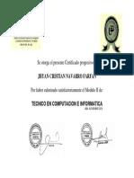 Certificado progresivo idat