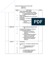 YEARLYLESSON PLAN FOR BIO FORM 4 AND FORM 5  2010
