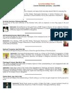 Leadership Core Schedule - Courses & Instructors