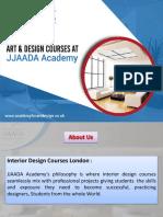 Art and interior design courses London